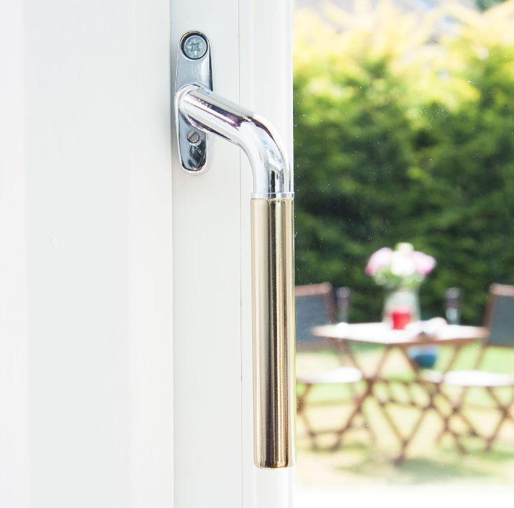 Window handles for sale in the UK - chrome teardrop