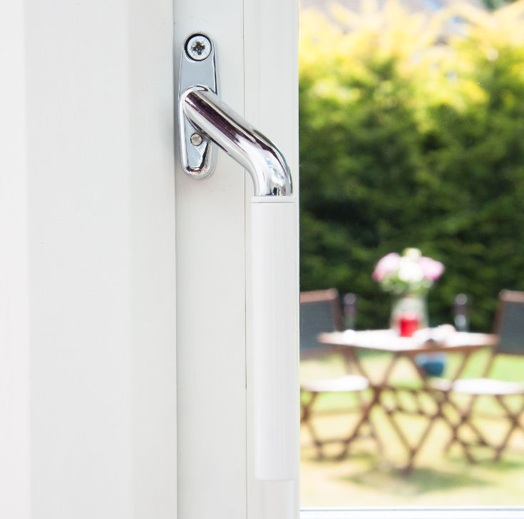 Window handles for sale in the UK - white teardrop