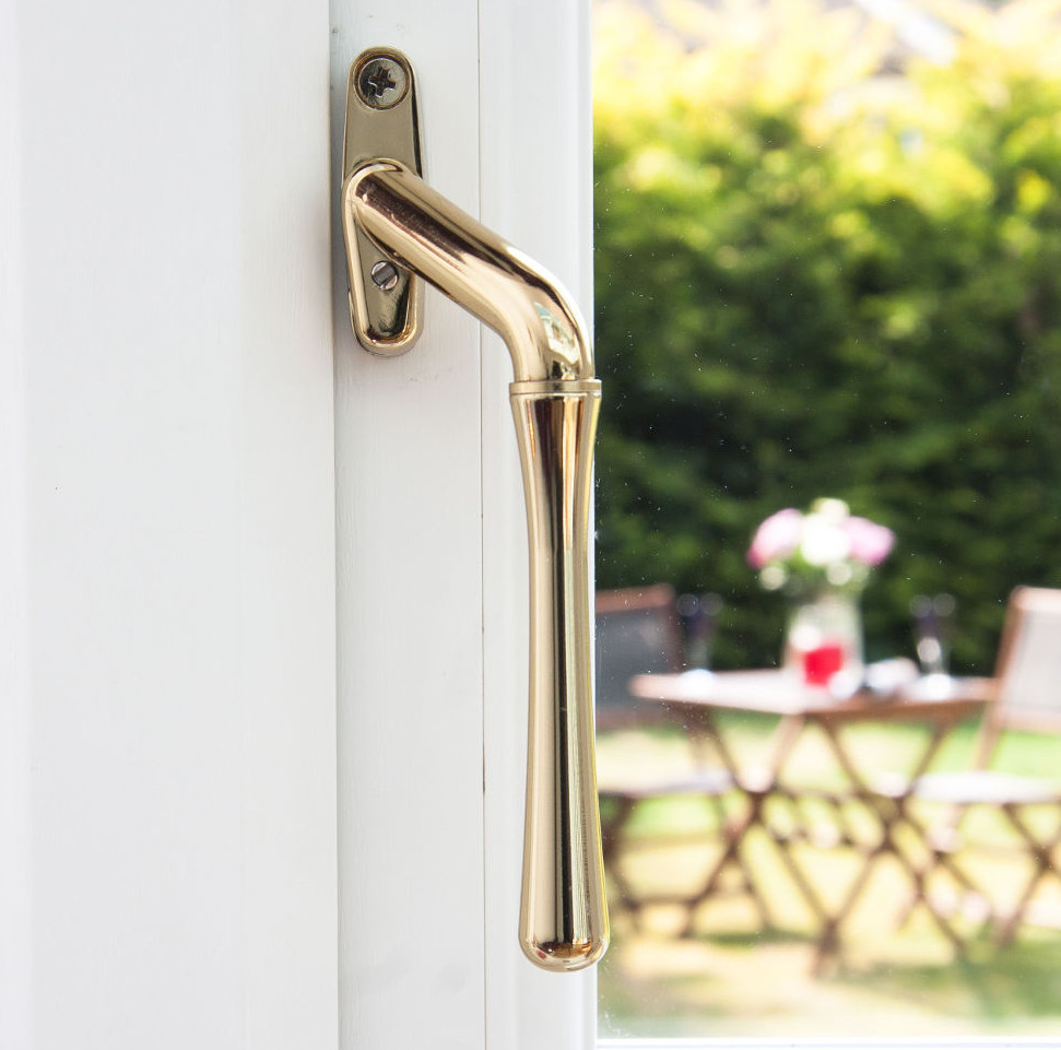 Window handles for sale in the UK - gold teardrop