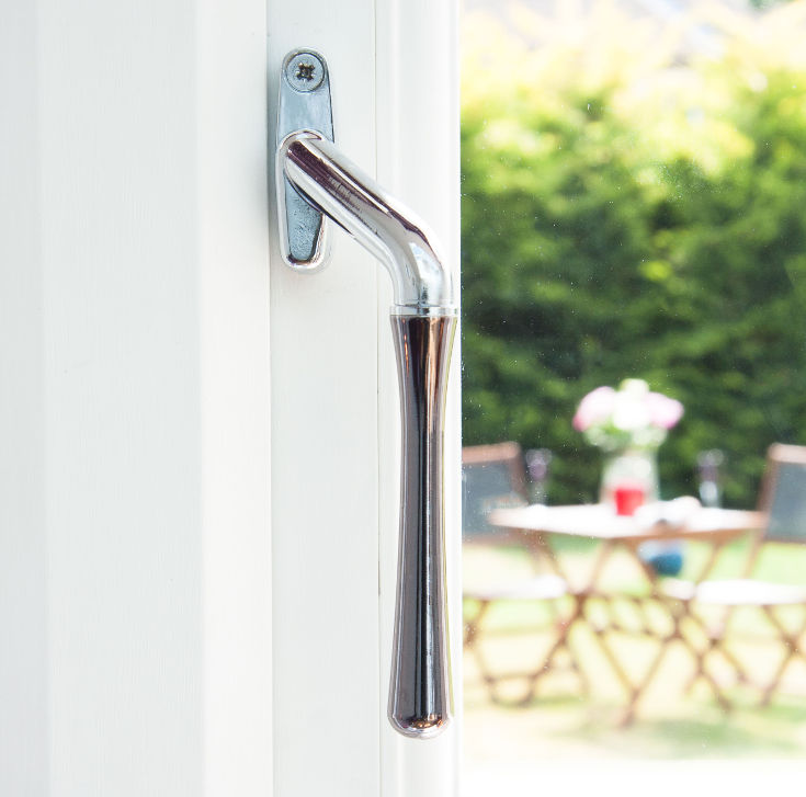 Window handles for sale in the UK - gunmetal teardrop