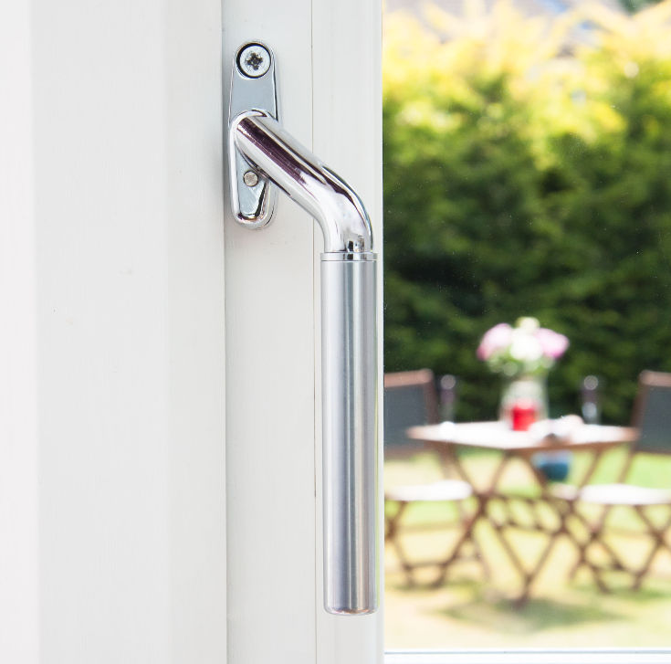 Window handles for sale in the UK - satin teardrop