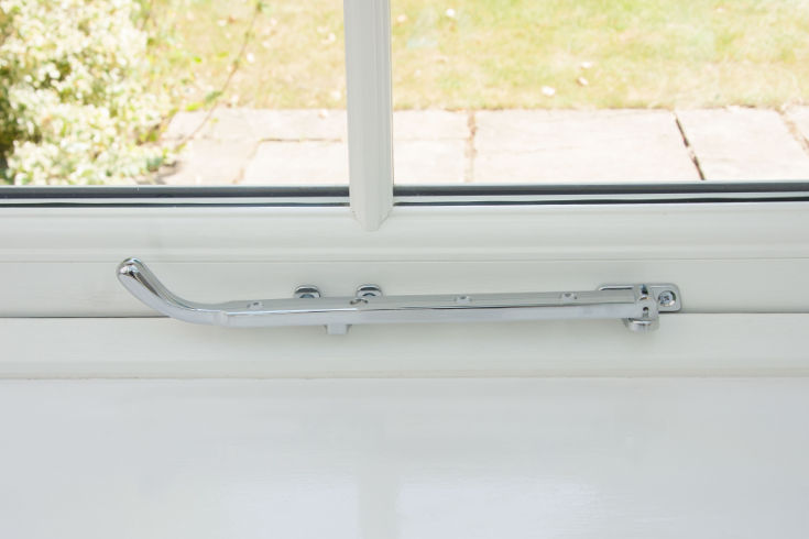 Pegstay Window handles for sale in the UK - chrome